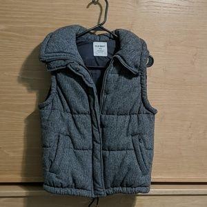 Old Navy Gray Puffy Vest